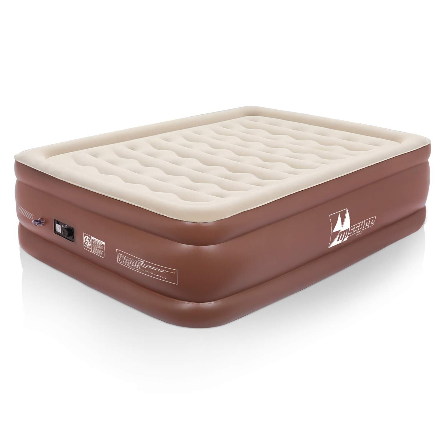 Missyee Inflatable Queen Air Mattress with Built-in Pump