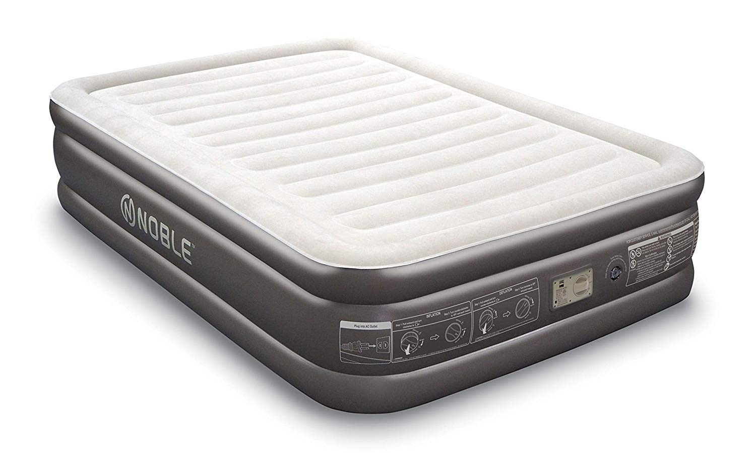 Noble QUEEN SIZE Comfort DOUBLE HIGH Raised Air Mattress