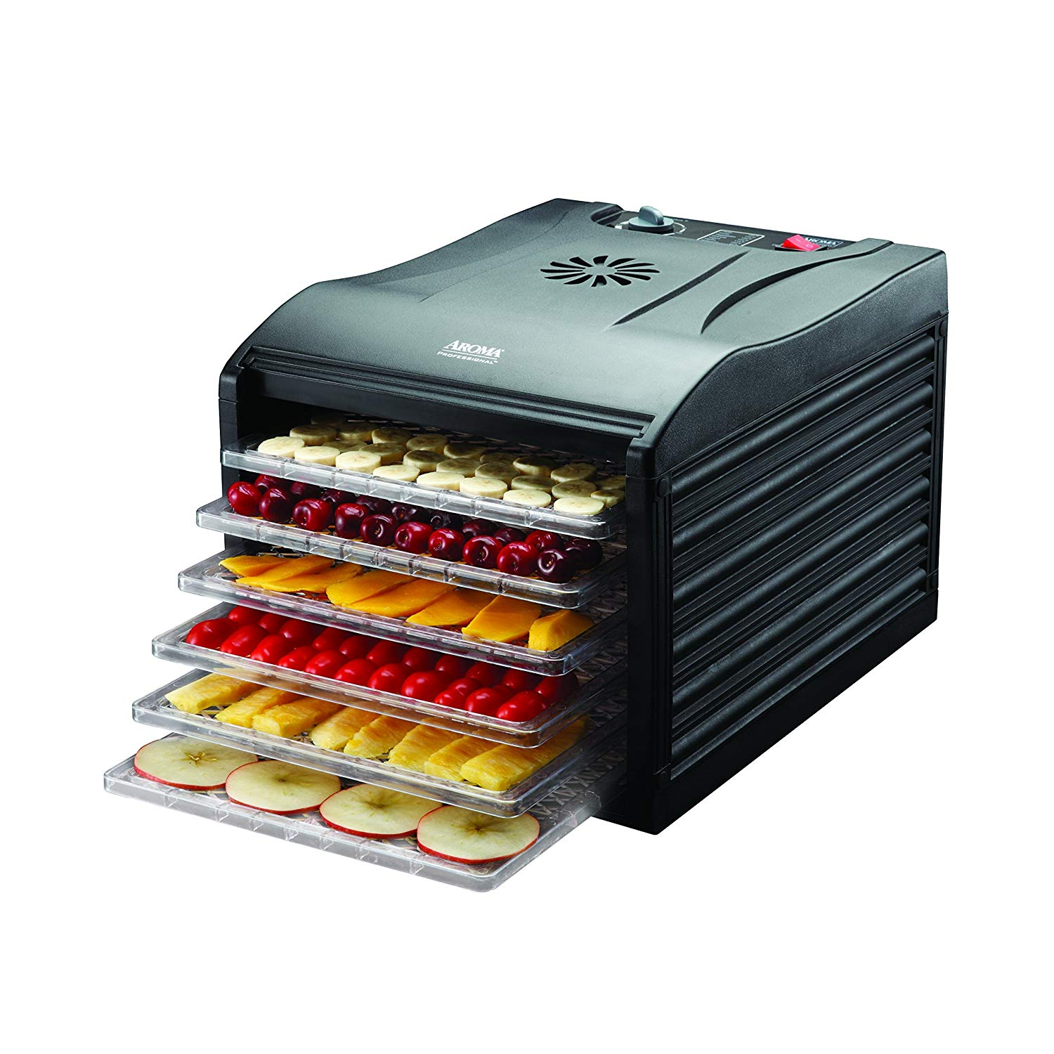 Aroma Housewares Professional 6 Tray Food Dehydrator Black